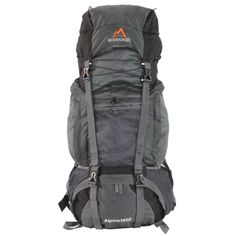 MISSION PEAK GEAR Alpine 3600 60L Internal Frame Hiking Backpack (Gray). ADJUSTABLE TORSO LENGTH - Adjustable torso length for a customized fit to your torso. HYDRATION SYSTEM COMPATIBLE - Fits up to 2 liters of water bladder or reservoir. Water tube exit port and tube clip by the shoulder strap for easy access to drink water. PADDED STRAPS and LUMBAR BACK SUPPORT - Adjustable padded hip belt and shoulder straps make the weight sit comfortable on your hip and shoulders. Expandable sternum...