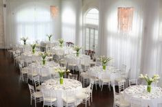 All White Wedding Reception at Belle Mer, Newport|