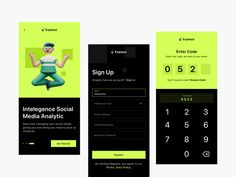 Exposur Onboarding Screens by Fireart Studio on Dribbble Account Sign In, Code Names, Coding, App Design, Accounting, Social Media, Marketing, Studio