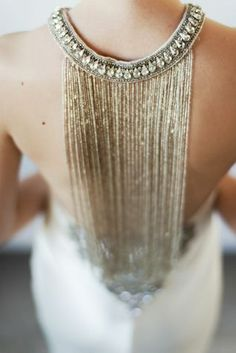 Love the gold detail at the back #wedding #gold #dress #blacktie #bride