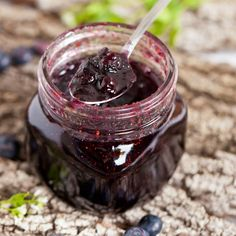 Dulceata de afine Jam Jar, Preserves, Ale, Cooking Recipes, Sweets, Homemade, Food And Drink, Canning, Meat