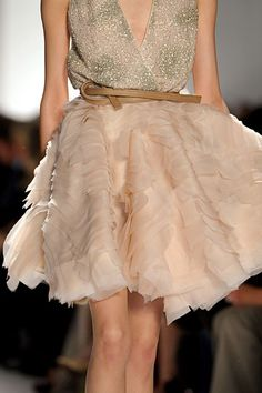 In love with this skirt! ❦ Dennis Basso Fall 2012