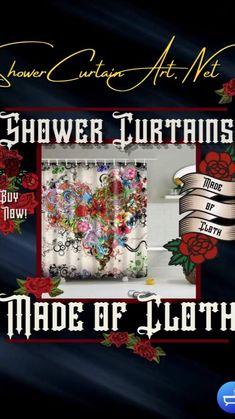 Shower Curtain Art, Cool Shower Curtains, Floral Shower Curtains, Modern Bathroom Design, Bathroom Interior Design, Shower Accessories, Bathroom Fixtures, Bathroom Furniture, Diy Painting