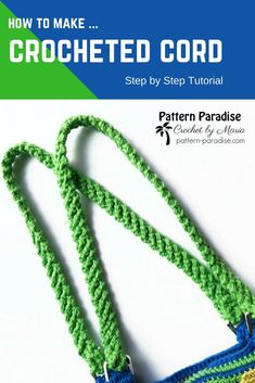 Tutorial: How to make a Crocheted Cord perfect for purse straps, belts, ties and more! The place where construction meets design, beaded crochet is the act of using beads to embellish crocheted items. Crochet is derived from the French crocepeat Row Crochet Handles, Crochet Belt, Crochet Purse Patterns, Crochet Shell Stitch, Crochet Purses, Diy Crochet, Crochet Crafts, Crochet Hooks, Tutorial Crochet