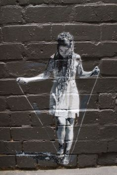 """GIRL JUMPING ROPE"" in Melbourne, Australia, By: RASH"