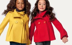 Little girls jackets Baby Outfits, Toddler Outfits, Kids Outfits, Cute Kids Fashion, Toddler Fashion, Teen Fashion, Winter Fashion, Childrens Coats, Kids Coats