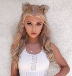 Ideas nails pink grey gray for 2019 Loren Grey, Hair Dos, My Hair, Corte Y Color, Cute Hairstyles, Hair Inspiration, Blonde Hair, Curly Hair Styles, Beautiful People
