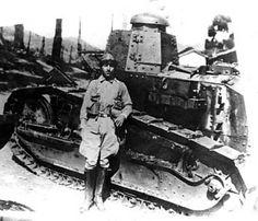 Tanque e soldado Mattuck na Serra da Mantiqueira, Rev. 1932