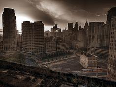 Detroit Michigan Abandoned City.