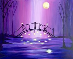 Hey! Check out Magical Moonlit Violet Bridge at Yellowstone Cellars and Winery - Paint Nite Event