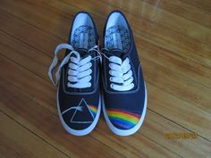 Pink Floyd Dark Side of The Moon shoes. $100.00, via Etsy.
