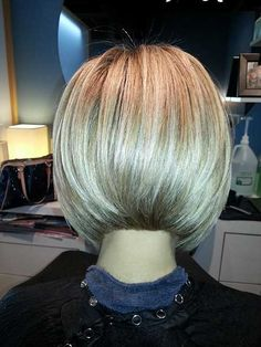 Back of A Angled Bob Haircut