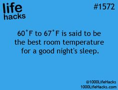 Best temperature for a good night's sleep.
