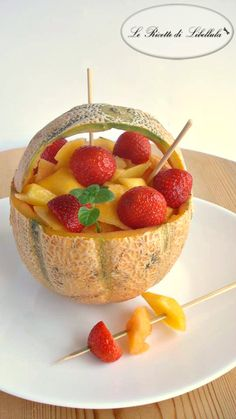 #Fantasia al #melone #cestino #ricetta