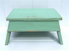 Items similar to Vintage Style Step Stool No. 2 in Jadite Handmade by Circle Creek Home on Etsy Country Bench, School Furniture, Furniture Ideas, Kids Stool, Bench Designs, Toddler Fun, Vintage Fashion, Vintage Style, Wood Crafts
