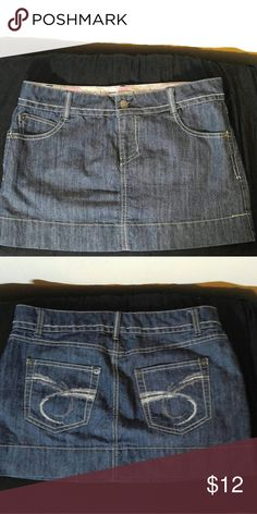 SO Wearit declarit Cute Denim Skirt Wearit declarit Denim Skirt -NWOT- Size 5- 62% Cotton- 37 % Polyester- 1% Spandex. SO wearit declarit Skirts Mini