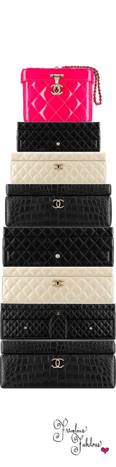 Frivolous Fabulous - Chanel Jewelry  Accessories and Makeup Boxes