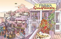 NIEUWE FRANKA ARTBOOK GRAND ADVENTURE: dit boek is de opvolger van TECHNICOLOR WIDE SCREEN  uit 1990. Dus weer een overzicht van de grote illustraties  rond de serie Franka.