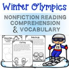 2018 Winter Olympic Games NonFiction Reading Comprehension and Vocabulary 2018 Winter Olympic Games, 2018 Winter Olympics, Winter Games, Receptive Language, Speech And Language, Reading Passages, Reading Comprehension, Speech Therapy Activities, Vocabulary Words
