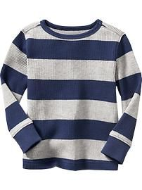 Striped Waffle-Knit Tee for Baby