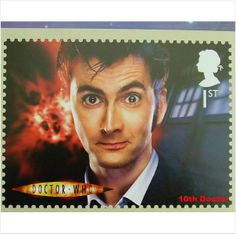 10th tenth DOCTOR WHO DAVID TENNANT-NEW MINT PHQ STAMP CARD, picture postcard on eBid United Kingdom
