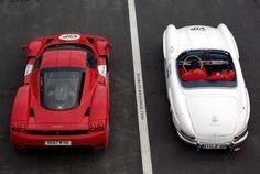 Ferrari enzo, mercedes 300sl roadster