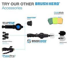Brush Hero 'Starter-Set' - Rotierende Reinigungs-Bürste Waschbürste für Auto-Felgen, Motorräder, uvm.: Amazon.de: Auto