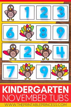 This easy prep morning tubs resource includes 25 turkey themed activities for Kindergarten that are packed full of interactive, hands-on activities including letters, numbers, counting, ten frames, making 10, beginning sounds, ending sounds editable sight words, fine motor, and more. Perfect for morning tubs, math and literacy centers, or early finishers, these activities are fun, interactive, hands-on, and of course -educational! Kindergarten Morning Work, Kindergarten Math Activities, Sight Word Activities, Counting Activities, Alphabet Activities, Hands On Activities, Kindergarten Classroom, Art Activities, Teaching Sight Words