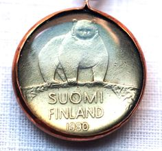 Finland Coin Pendant on Etsy