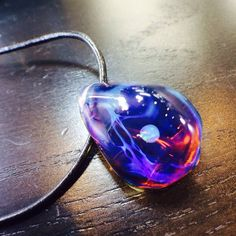 """Northern Lights """"Rippling Sunset"""" Peachy Pendant  $315 at TheHeadyHive.com"""