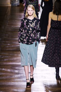 I like these silly velveteen culottes - even though they can't possibly be very flattering! 58 - The Cut