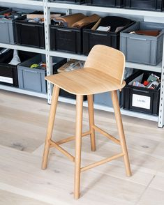 The Nerd Bar Stool is a quirky take on the conventional bar stool, destined to look excellent at your bar, restaurant or kitchen. Dining Room Inspiration, Home Decor Inspiration, Work Inspiration, Scandinavian Interior Design, Scandinavian Living, Muuto, Wooden Bar Stools, Minimal Decor, Take A Seat