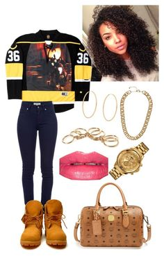 """........"" by dianelovett ❤ liked on Polyvore featuring Burberry, Loren Stewart, Monday, H&M, Forever 21, Bobbi Brown Cosmetics, MCM and Versus"
