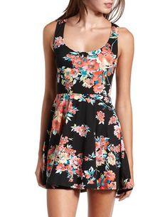 Floral Skater Tank Dress: Charlotte Russe