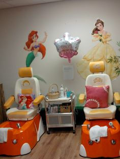 More of the nail salons should do this. What a great idea for those little girls that come in!!