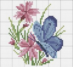 cross stitch flowers and butterflies - Google Search