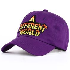 2018 New Multi Color A Different World Dad Cap Snapback Baseball Cotton Caps   fashion   9b460a60d9ab