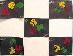 Fall Idea Preschool/Pre- K apple Prints (texthornmaisd.net ) . I've done this so many times and with children as young as 2 years old. It's fun and the older they get the more you can add to this art project to make it more for their age