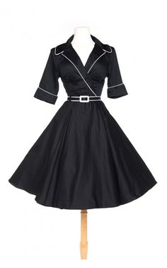 Deadly Dames - Haunted Housewife Dress in Black | Pinup Girl Clothing