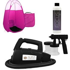Easy Home Spray Tanning Kit with Aura Tan Machine Focus Solution and Pink Tent *** Learn more by visiting the image link-affiliate link. Beauty Salon Equipment, Popular Pins, Tent, Salons, Image Link, Business, Easy, Salon Equipment, Store