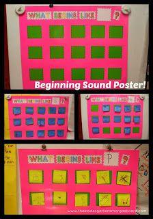 Smedley's Smorgasboard of Kindergarten: A Kindergarten Smorgasboard Beginning Sound Poster
