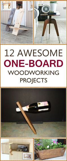 12 Awesome One-Board Woodworking Projects