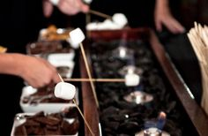 This interactive S'mores Station is sure to be a hit at your wedding or event! I came across this idea on Elly B Blog and totally love it! I...
