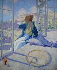 'Morning Reflections' - Richard Edward Miller  (1875-1943)