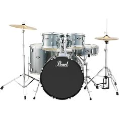 Pearl Roadshow 5-Piece New Fusion Drum Set Charcoal Metallic