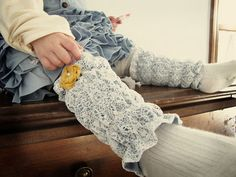 Lacy legwarmers to make for a little girl. Is it weird that I want to make an adult version for myself?