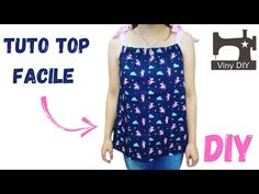 Coudre un Top Débardeur - Tuto Couture Facile - YouTube Creations, Summer Dresses, Diy, Tops, Fashion, Sewing, Moda, Summer Sundresses, Bricolage