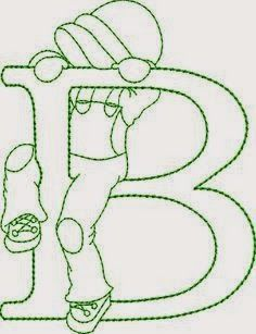 B for Backus Embroidery Alphabet, Embroidery Monogram, Folk Embroidery, Ribbon Embroidery, Machine Embroidery Designs, Embroidery Stitches, Sunbonnet Sue, Applique Patterns, Cross Stitch Patterns