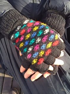 Fingerless Space-invader Gloves Pattern By Knitbitch