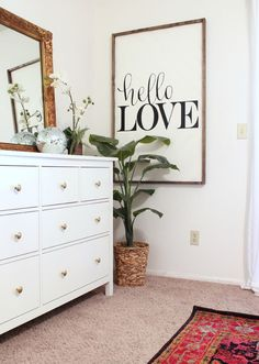 DIY Sign made from plywood, 1x4s & vinyl letters (so can change easily) - www.classyclutter...